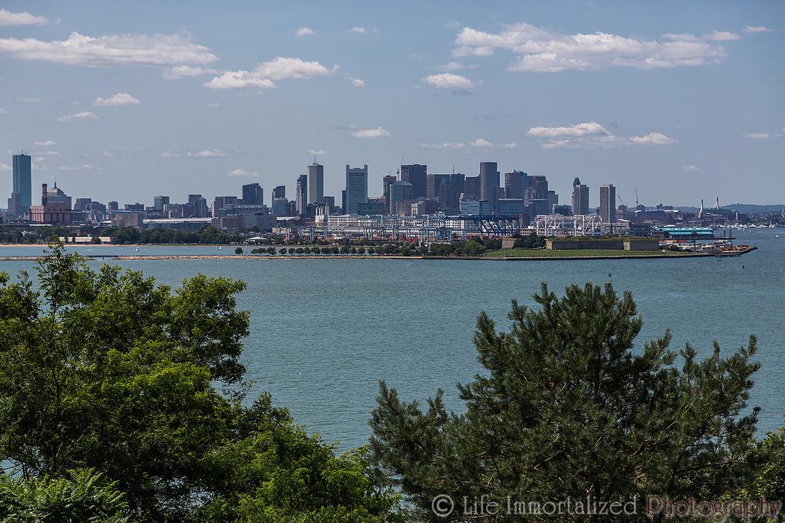 Boston Skyline via Spectacle Island